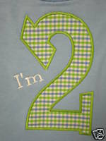 Custom Applique- Number- AGE- Shirt- Birthday!