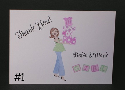 Personalized Baby Shower Thank You Notes