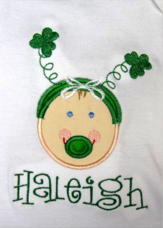 Custom Applique Baby St. Patrick's Day Shirt