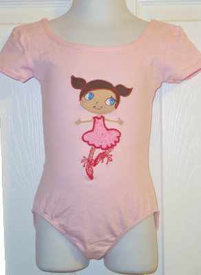 Custom Applique Ballet Leotard