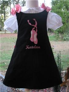 Custom Aline Ballet Dress (black)