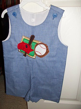 Custom Baseball Theme Applique Jon Jon