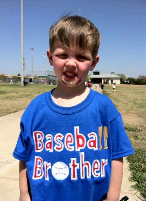 Custom Applique Baseball Brother Shirt