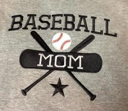 Applique Custom  Baseball Mom Shirt