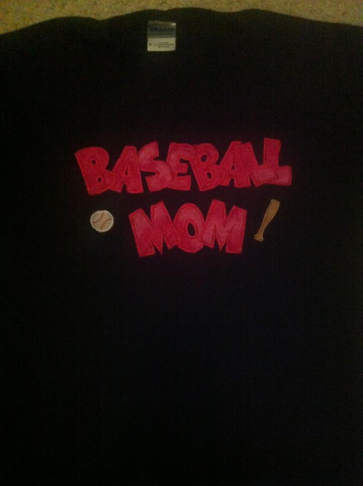 Custom Baseball MOM Applique Shirt