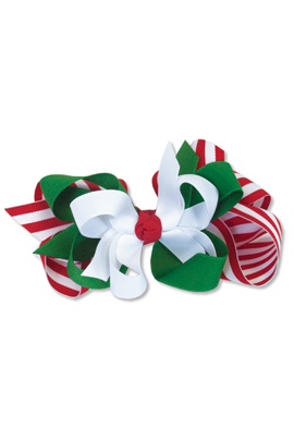 Kelly's Kids Girls Large Bow Holiday