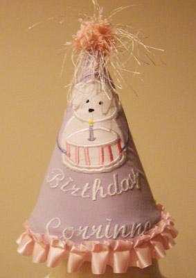 Custom Applique Birthday Bear Hat