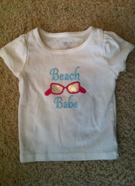 Custom Applique Beach Babe Shirt