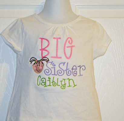 Custom Big Sister T-Shirt