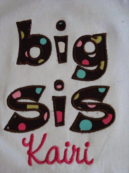 Custom Applique Big Sis Shirt