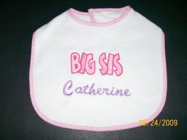 Custom Applique Big Sis Bib