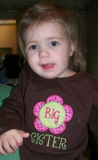 Custom Applique Big Sister/ Little Sister Flower Shirt