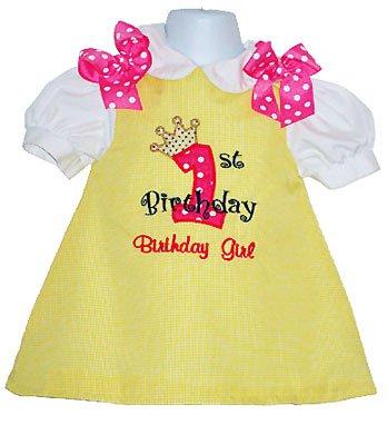 Custom Applique Birthday Girl Princess Dress