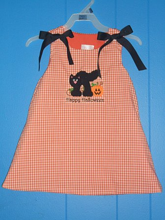 Custom Boutique Halloween Black Cat Dress