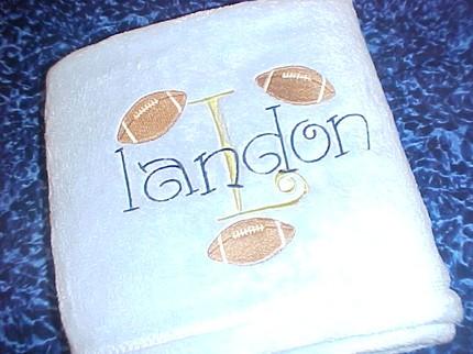 Tahoe Microfleece Baby Blanket Football Monogram Sports