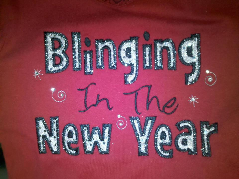 Custom Applique Blinging In The New Year
