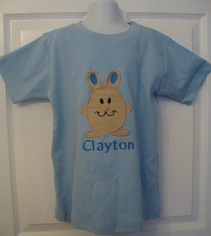 Custom Applique Easter Bunny Shirt