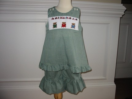Custom Smocked School Capri Set