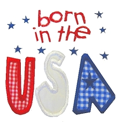 Custom 4th of July Applique Shirt- Born In The USA