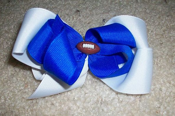 Custom Football Hair Bow