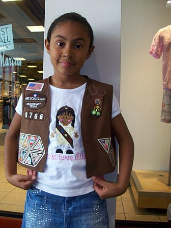 Brownies Have Attitude (wearing hat) Girl Scout Shirt