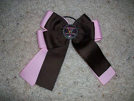 Custom Brownies Can Do Anything Bottle Cap Bow