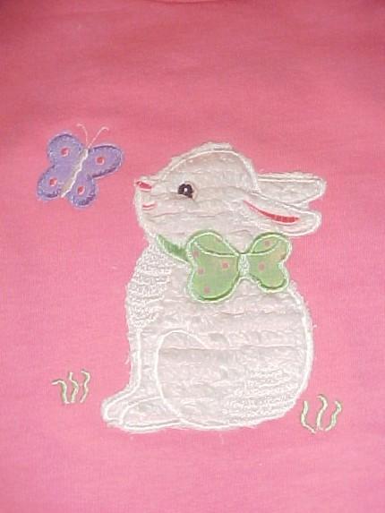 Custom Applique Chenille Easter Bunny Shirt