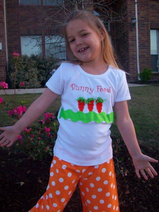 Custom Bunny Food Shirt and Capri Set