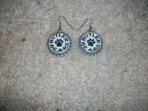 Butler Elem. School Spirit Custom Bottle Cap Earrings