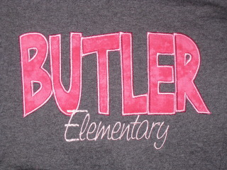 Butler Elementary Custom Made Applique Shirt