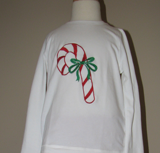 Custom Christmas Candy Cane Tee
