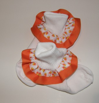 Candy Corn Ribbon Socks
