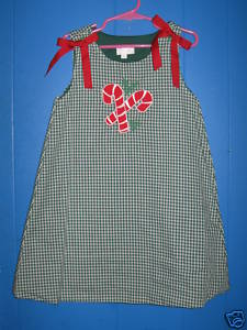 Custom Boutique Christmas Candy Cane Dress