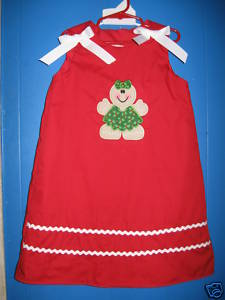 Custom Aline Gingerbread Girl Christmas Dress