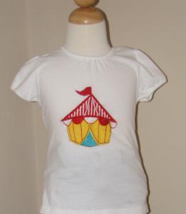 Custom Circus Tent  Applique Shirt