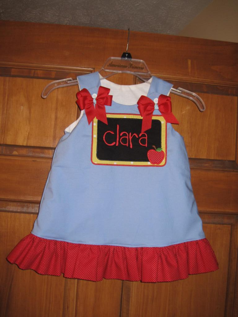 Custom Applique School Chalkboard Ruffle Dress