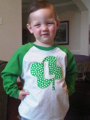 Custom St. Patrick's Day Clover Initial Shirt
