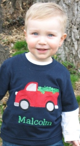 Custom Applique St. Patrick's Day Truck with Shamrocks Shirt