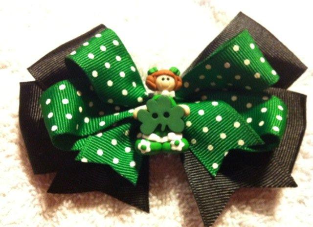 Custom St. Patrick's Girl Hair Bow