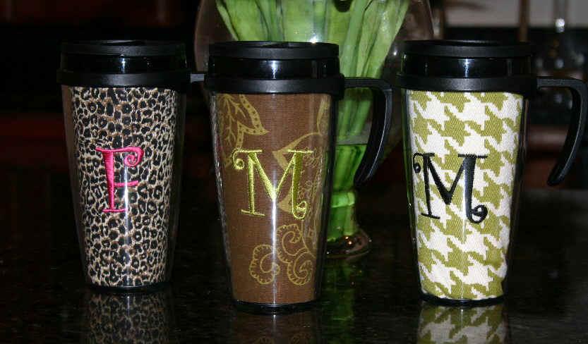 Monogrammed Coffee Mug With A Handle