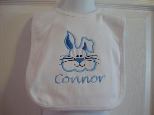 Custom Applique Easter Bunny Bib