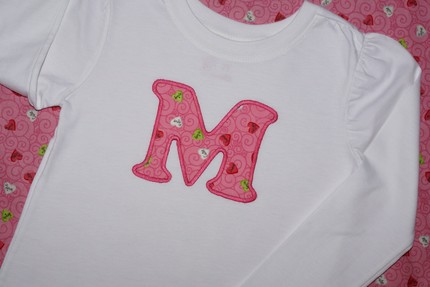 Valentine's Day Custom Initial Tee -- Conversation Hearts