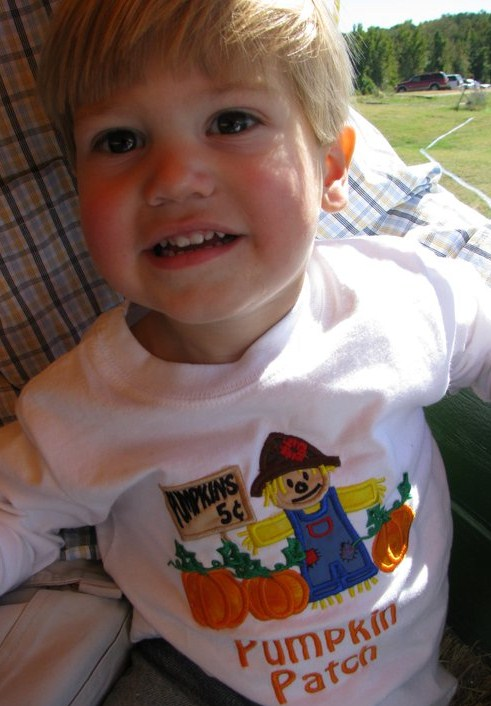 Custom Applique Scarecrow Pumpkin Patch Shirt