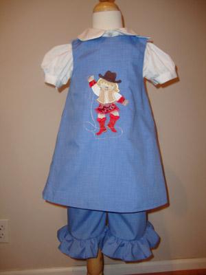 Custom Applique Cowgirl Dress