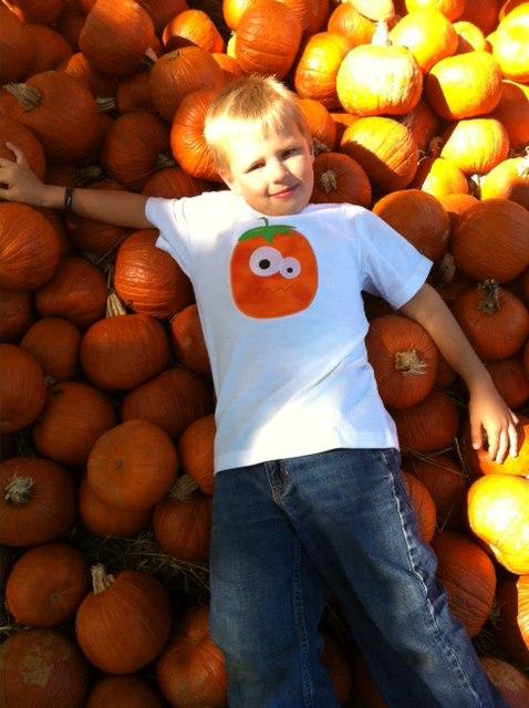 Custom Applique Crazy Pumpkin Halloween Shirt