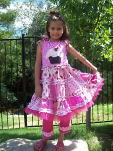 Custom Applique Cupcake Dress and Leggings