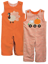 Kelly's Kids Thanksgiving Reversible Longall
