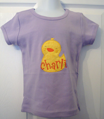 Custom Applique Chick Easter Shirt