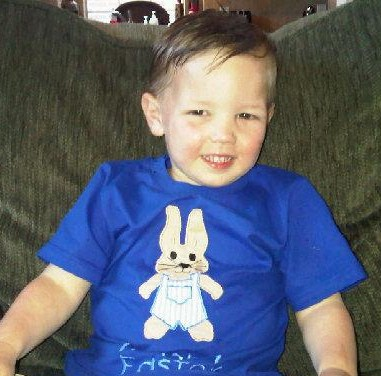 Custom Applique Boy Easter Bunny Shirt