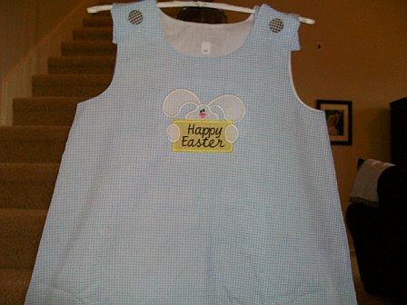 Custom Easter Bunny Aline Dress